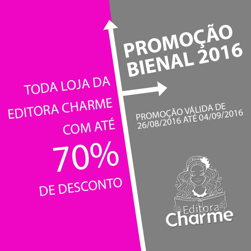 promocao bienal do livro 2016 - editora charme